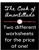 "TWO ""The Cask of Amontillado"" Worksheets- Freshman"
