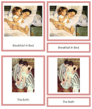 Cassatt (Mary) 3-Part Art Cards - Color Borders
