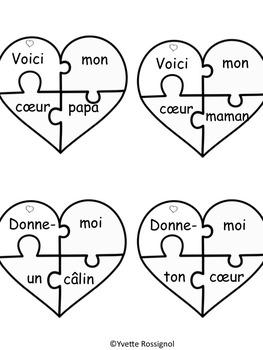 Casse-coeurs! (avec mots fréquents, Saint-Valentin, ateliers, cartes)