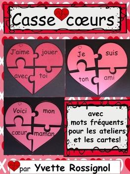 Casse Coeurs Avec Mots Frequents Saint Valentin Ateliers Cartes