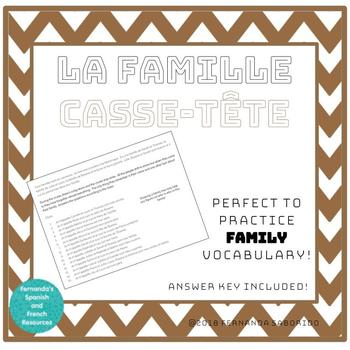 Casse-tête - Logic Puzzle - Family / Famille French