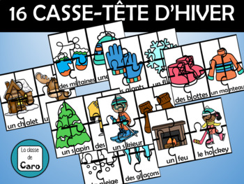 Casse-tête d'hiver - Imprimable  - (French - FSL)