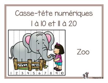 Casse-tête numérique Au zoo