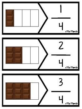 Casse-têtes - Fractions chocolat (Fractions Puzzle)