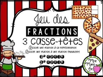 Casse-têtes - Fractions équivalentes (Fractions Puzzle)