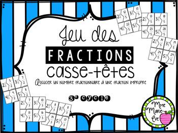 Casse-têtes - Fractions et nombres fractionnaires (Fractions Puzzle)