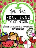 Casse-têtes - Fractions melon d'eau (Fractions Puzzle)