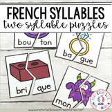 Casse-têtes de 2 syllabes (FRENCH 2 Syllable Puzzles Literacy Centre)