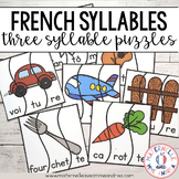 Casse-têtes de 3 syllabes (FRENCH 3 Syllable Puzzles Literacy Centre)