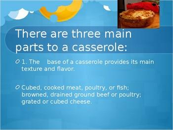 Casserole Project PowerPoint