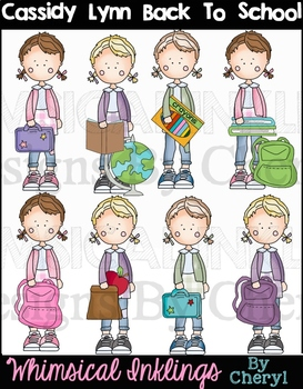 Cassidy Lynn Back To School Clipart Collection