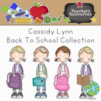 Cassidy Lynn Back to School Clipart Collection || Commercial Use Allowed