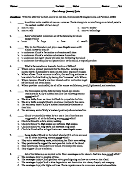 Cast Away Film (2000) 15-Question Multiple Choice Quiz