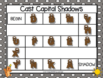 Cast Capital Shadows:  NO PREP Letter Identification Game
