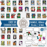 Cast of Characters 100 Pc. Clip Art Bundle
