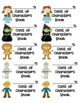 Cast of Characters Book labels