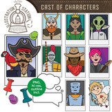 Cast of Characters Clip Art