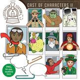 Cast of Characters II Clip Art