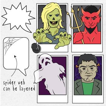 Cast of Characters III Halloween Clip Art