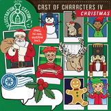 Cast of Characters IV Christmas Clip Art