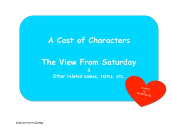 Cast of Characters The View From Saturday
