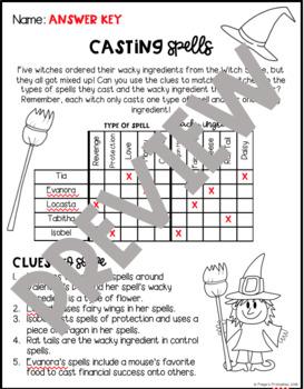 Casting Spells LOGIC PUZZLE