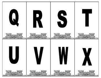 Castle Alphabet Card Game