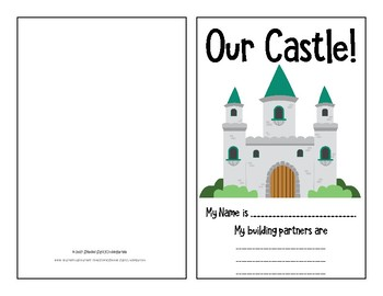 Castle Building Shape/Measurement Booklet with Curriculum Connection (pdf)