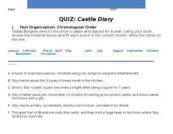 Castle Diary  QUIZ