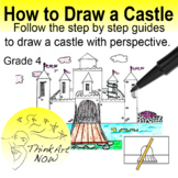 Art Lesson - How to Draw a Castle Step by Step - Think Art Now