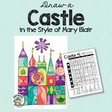 Castle Drawing in the Style of Mary Blair