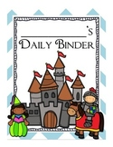 Castle Fairy-Tale Themed Daily Binder Cover