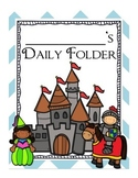 Castle Fairy-Tale Themed Daily Folder Cover