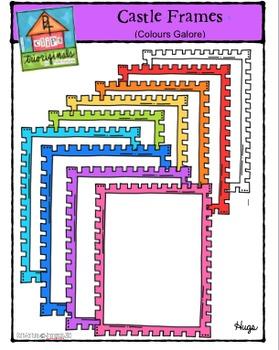 Castle Frames Colours Galore {P4 Clips Trioriginals Digital Clip Art}