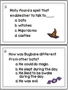 Castle Hangnail Task Cards/Comprehension Questions