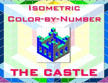 Castle Isometric Color-by-Number