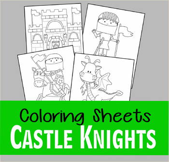 Castle Knight Coloring Sheets