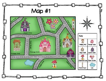 Castle Map Task Cards