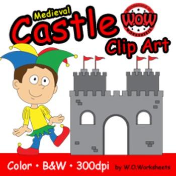 Castle, Medieval, Fairytale Clip Art