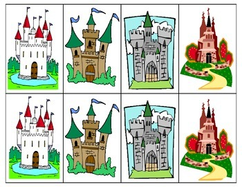 Castle Speech Therapy Card Game F,V,K,G in FRENCH