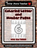 Castle - Theme Coloring Letter and Number 0 - 10 (37 Pages) *o