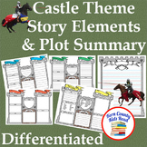 Castle Theme Story Elements Plot Summary Graphic Organizer & Writing Stationery