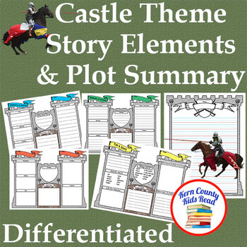 Castle Theme Story Elements Plot Summary Graphic Organizer & Writing Stationery