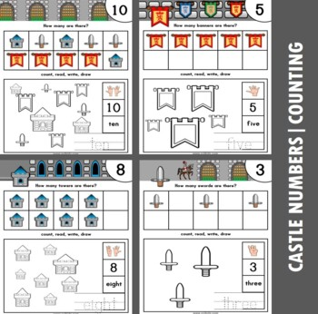 Castle Themed Number / Counting Activities