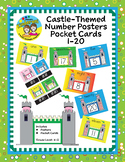 Castle-Themed Number Posters 1-20 with Pocket Card Numbers 1-20
