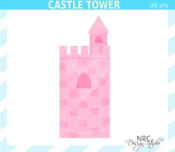 Castle Tower Clip Art - Commercial Use Clipart