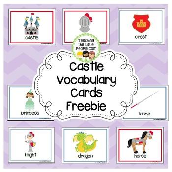 Castle Vocabulary Cards (Free)
