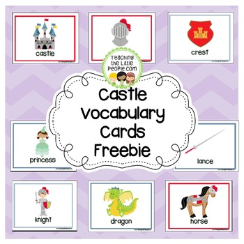 Castle Vocabulary Cards (Free)