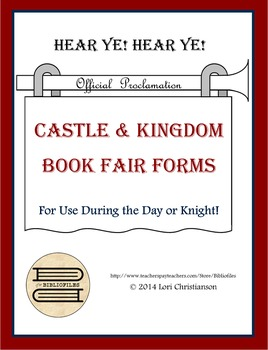 Book Fair Forms in Castle, Kingdom, Medieval Theme