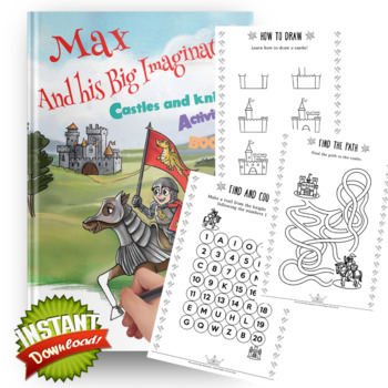 Castle and Knights Activity and Coloring book